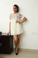 Lavanya Tripathi in Summer Style Spicy Short White Dress at her Interview  Exclusive 144.JPG
