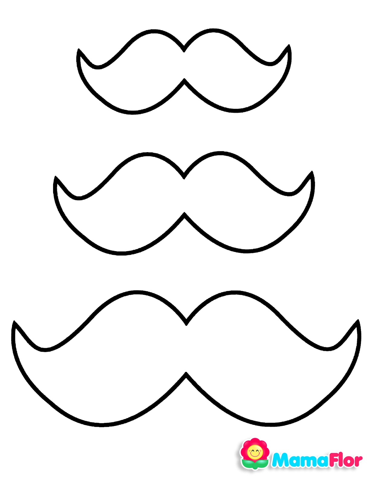 moldes bigotes sombrero lentes corbatas michi dia del padre
