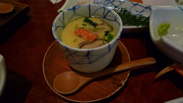 Chawanmushi. Crab Kani Doraku Douraku restaurant Tokyo. Tokyo Consult. TokyoConsult