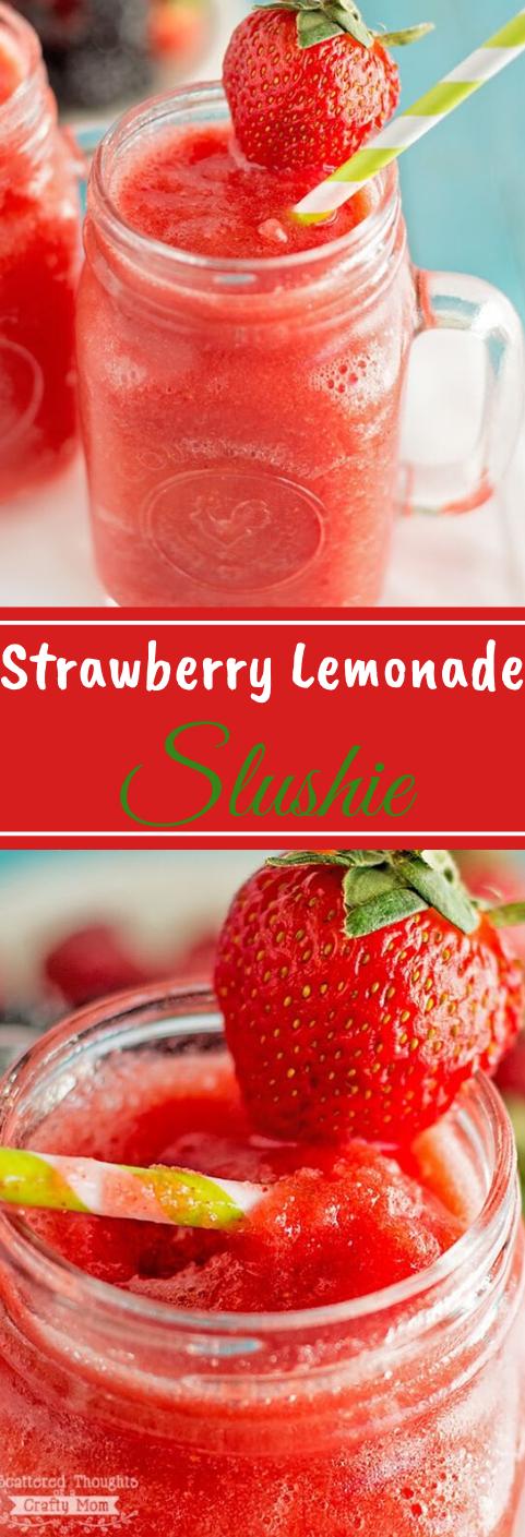 Strawberry Lemonade Slushies #drink #sangria #smoothie #cocktail #recipes