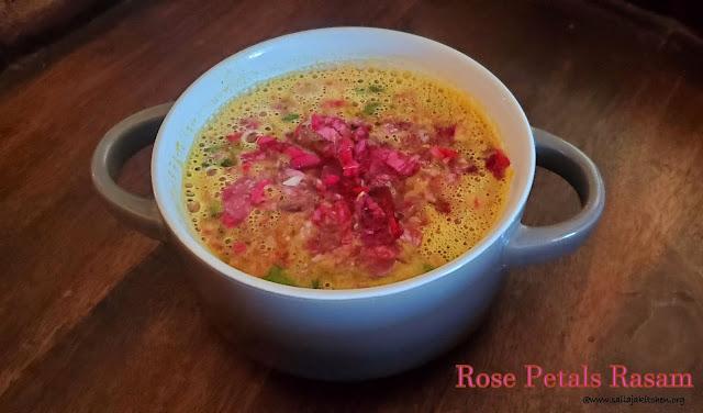 images of Rose Petals Rasam  / Roja Rasam - Rasam Recipes