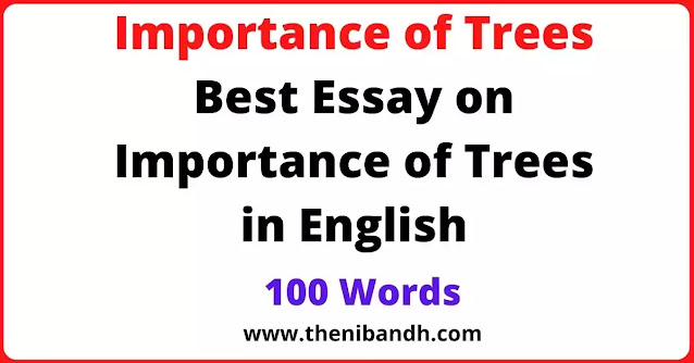 Importance of Trees text image