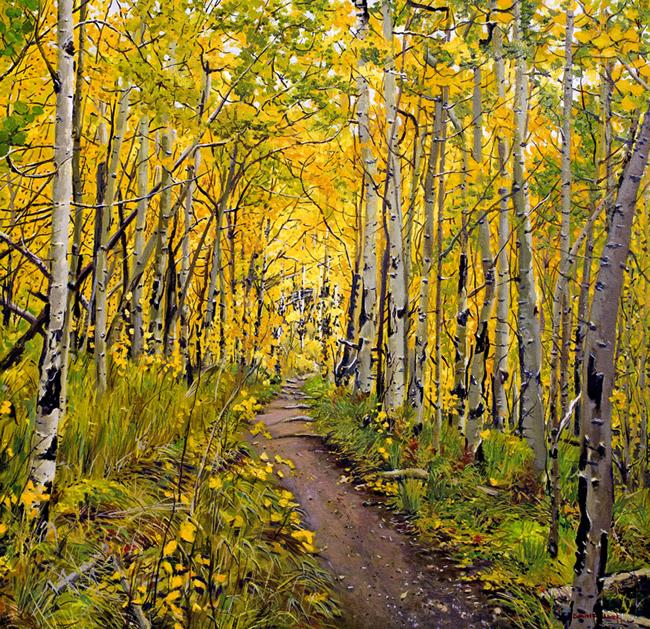 Kenosha To Breckenridge Trail Painting Prints Now Available On Fine