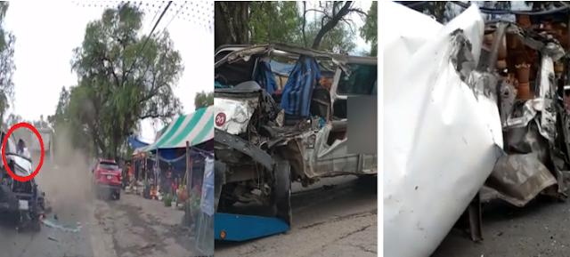 Video: A no mms el Increíble momento en que tráiler embiste a combi con pasajeros quedo destrozada y todos sobrevivieron en Zumpongo, Estado de México