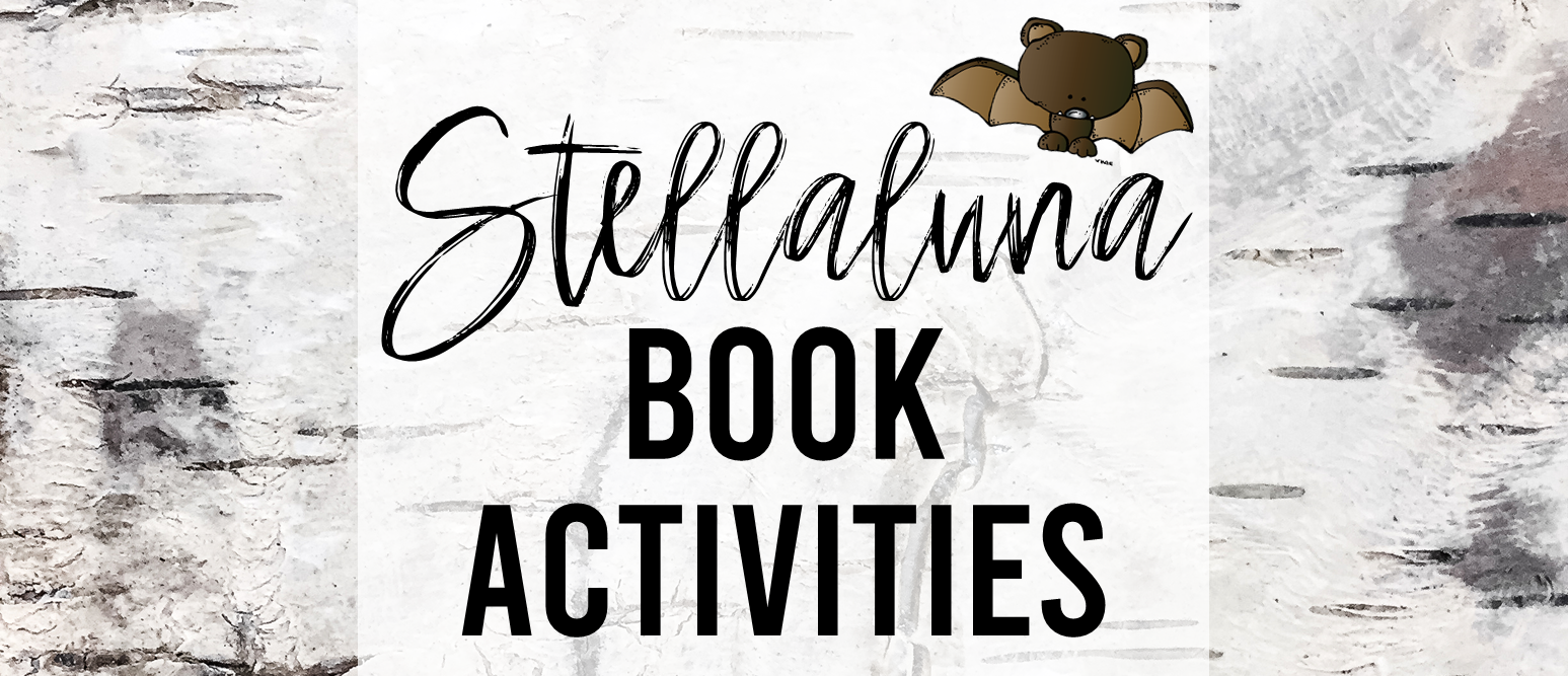Stellaluna book study unit with Common Core aligned literacy companion activities and a craftivity for Kindergarten and First Grade