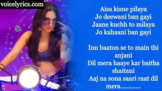 Hasina Pagal Deewani Lyrics In English