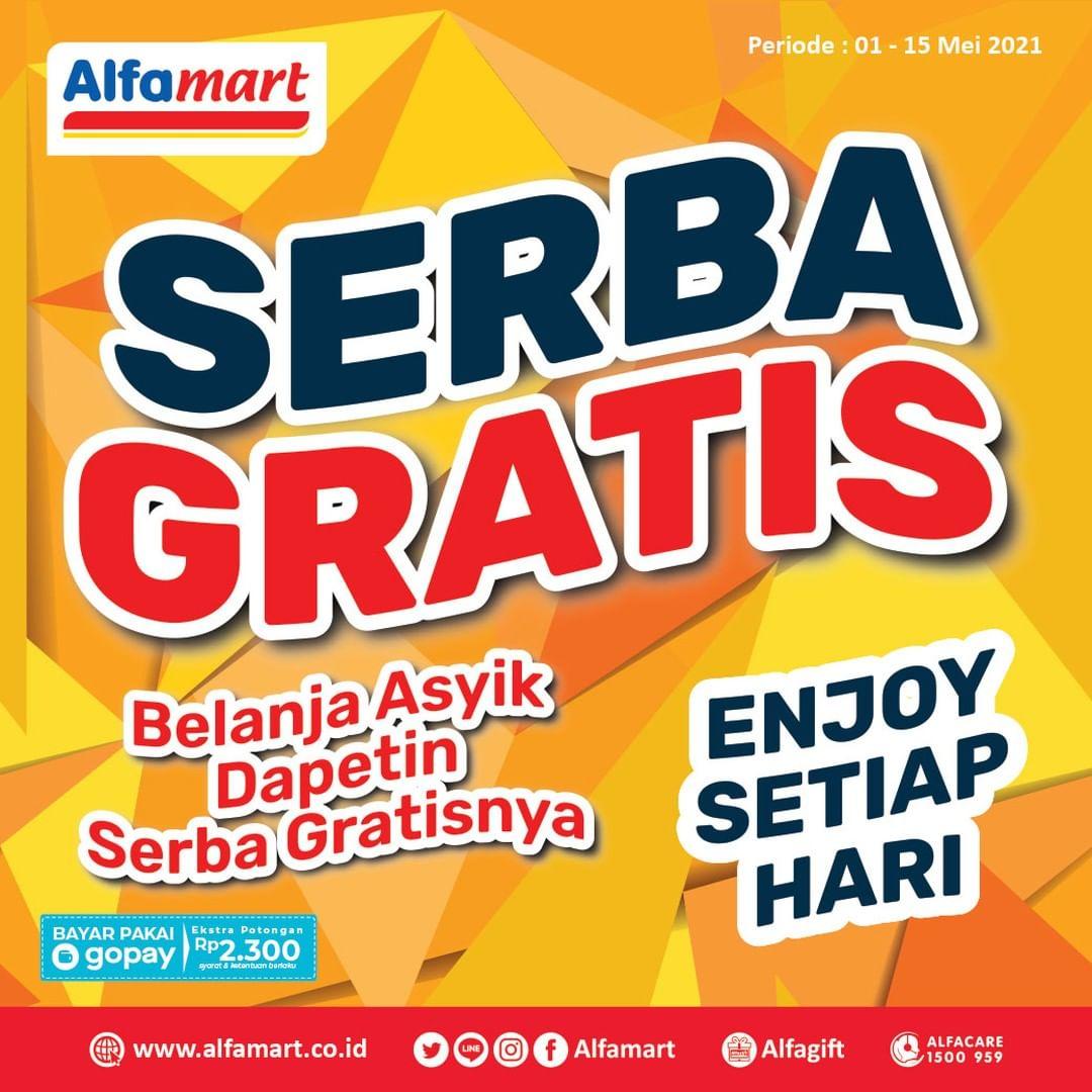 ALFAMART Promo SERBA GRATIS Periode 1 - 15 Mei 2021