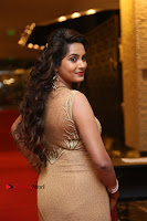 Actress Himaja Stills in Golden Spicy Long Dress at SIIMA Short Film Awards 2017 .COM 0269.JPG