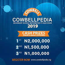 Cowbellpedia Mathematics Competition For 2019 – Win Over 5M Naira