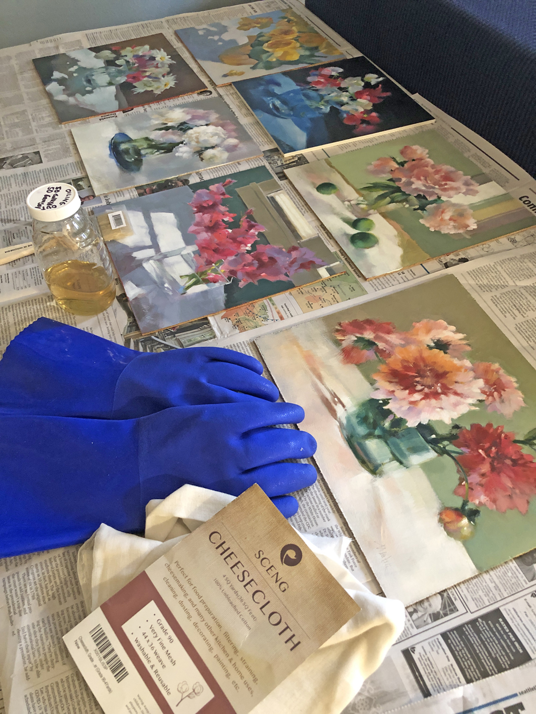 Oiling Out : oiling, Barbara, Newton, Journal:, Oiling, Before, Varnishing