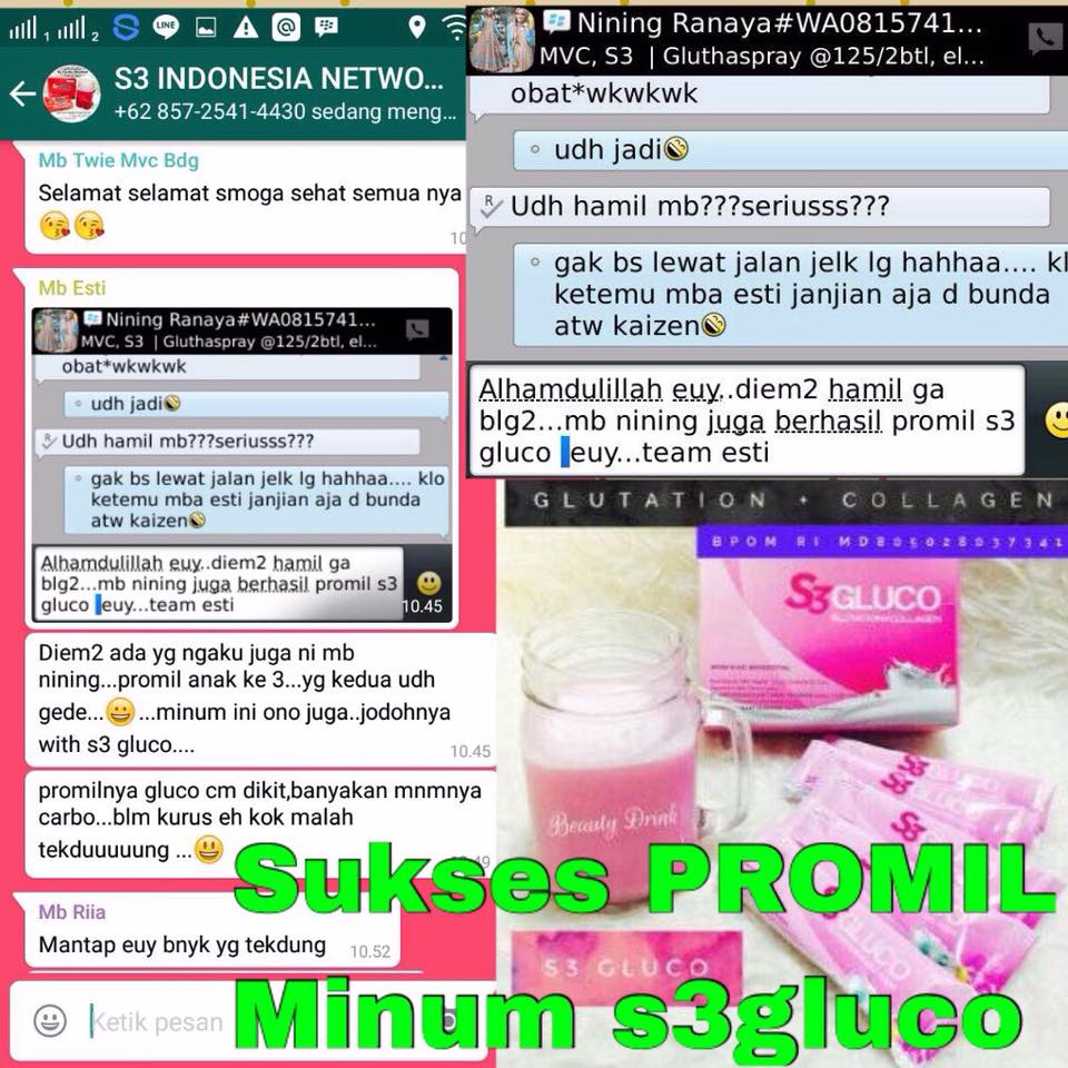Peluang Bisnis S3 Indonesia Gluco Testimoni Manfaat Carbo 1 Box Isi 15 Sachet Berat Bersih X Gram