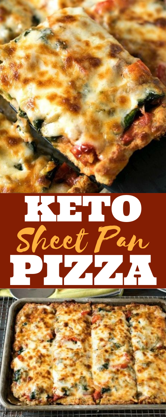 Keto Sheet Pan pizza #keto #lowcarb