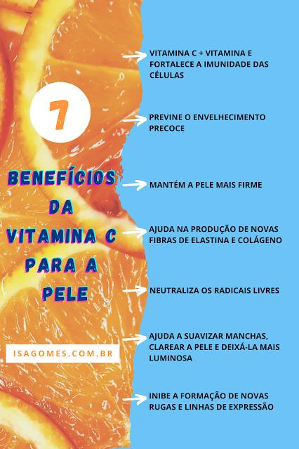 tipos de vitamina c para o rosto por menos de 100 reais