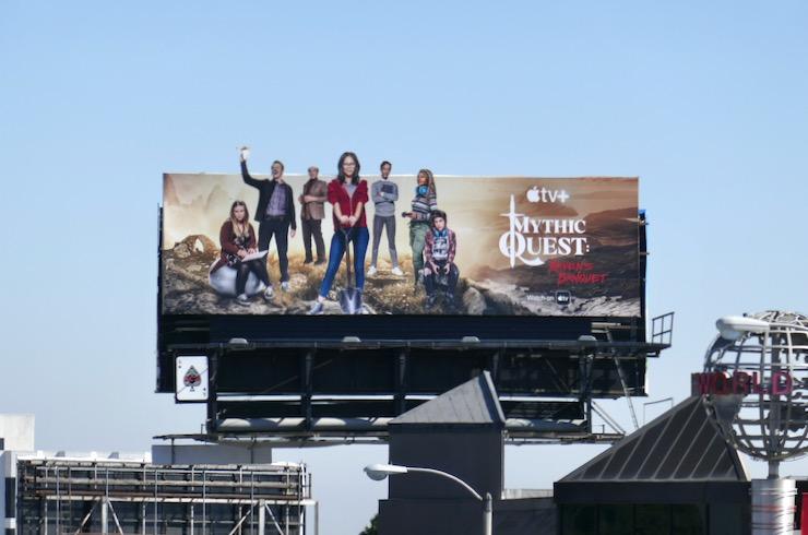 Mythic Quest Ravens Banquet season 1 billboard