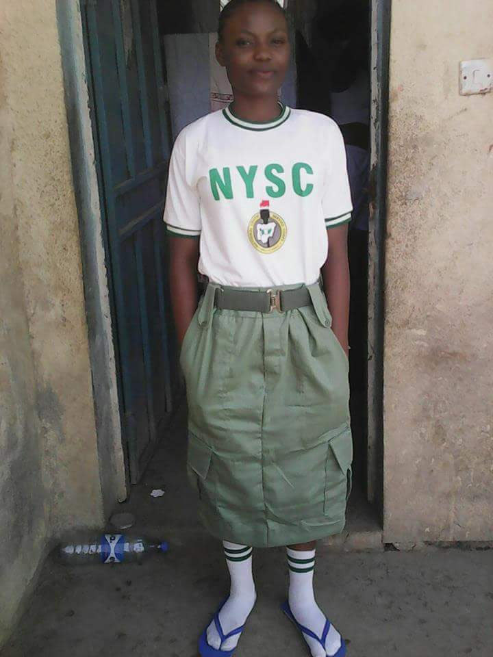 "Check out the female corper ""who sees wearing trouser as a sin"""