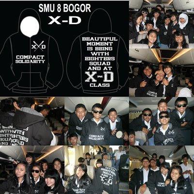 Hoodie (Sweater Kupluk) X-D Class SMU 8 Bogor
