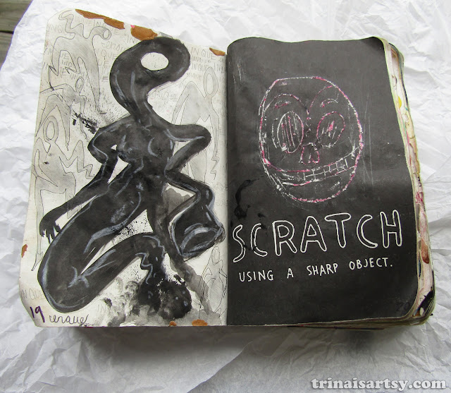 Wreck this Journal - Scratch using a sharp object