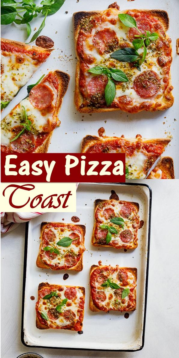 Easy Pizza Toast #breakfastideas