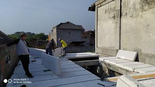 Jual Bata Ringan Kediri, Dokumentasi Pemasangan Panel Lantai Di Kediri