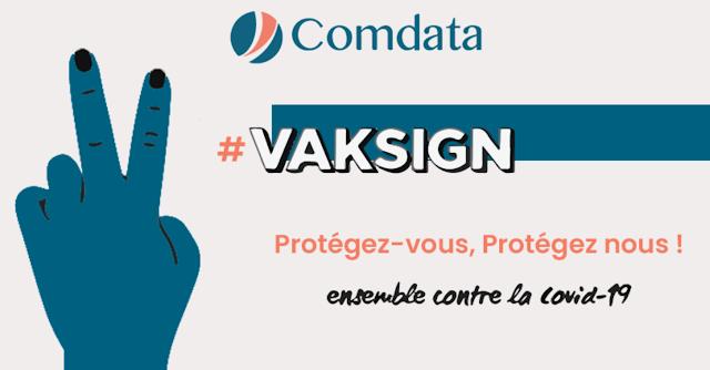 #VAKSIGN: Campagne de vaccination de Comdata - Caravanes sur place et un don social pour chaque employé vacciné