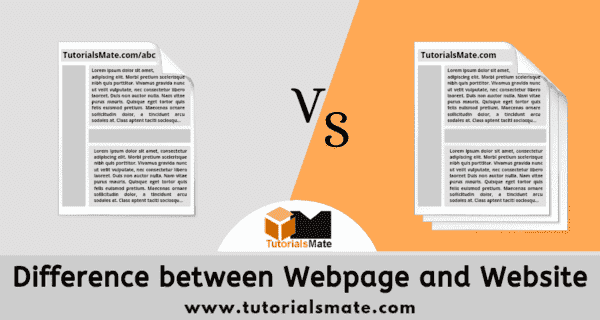 Difference between Webpage and Website