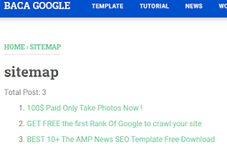 An-Example Sitemap  Generator on Blogger Site
