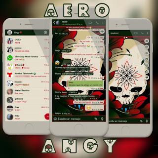 IOS Skull Theme For YOWhatsApp & Aero WhatsApp By Ave fénix