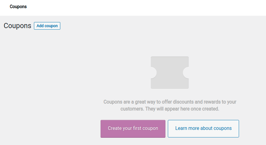 Create your first coupon
