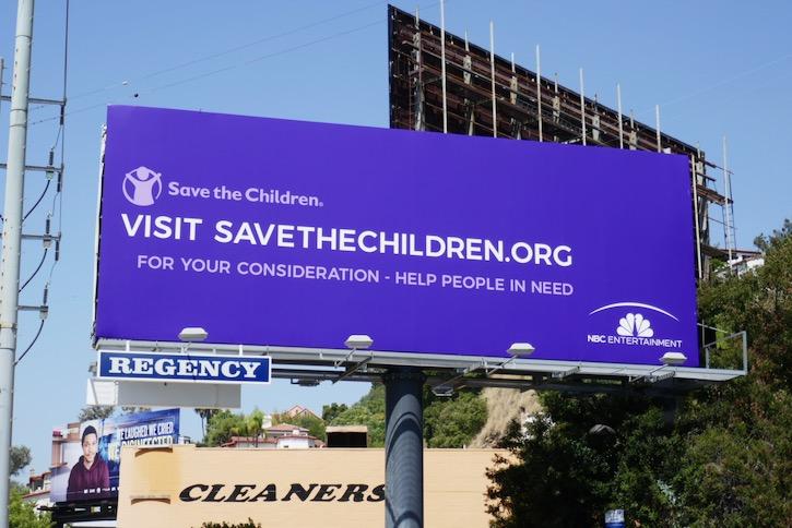 Save the Children NBC Entertainment FYC billboard