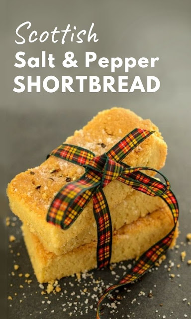 Salt and Pepper Scottish Shortbread - A twist on a traditional Scottish shortbread recipe flavoured with salt and pepper and cut in the familiar shortbread fingers. A tasty teatime treat. #shortbread #scottishshortbread #scottishshortbread #shortcake #cookie #biscuit