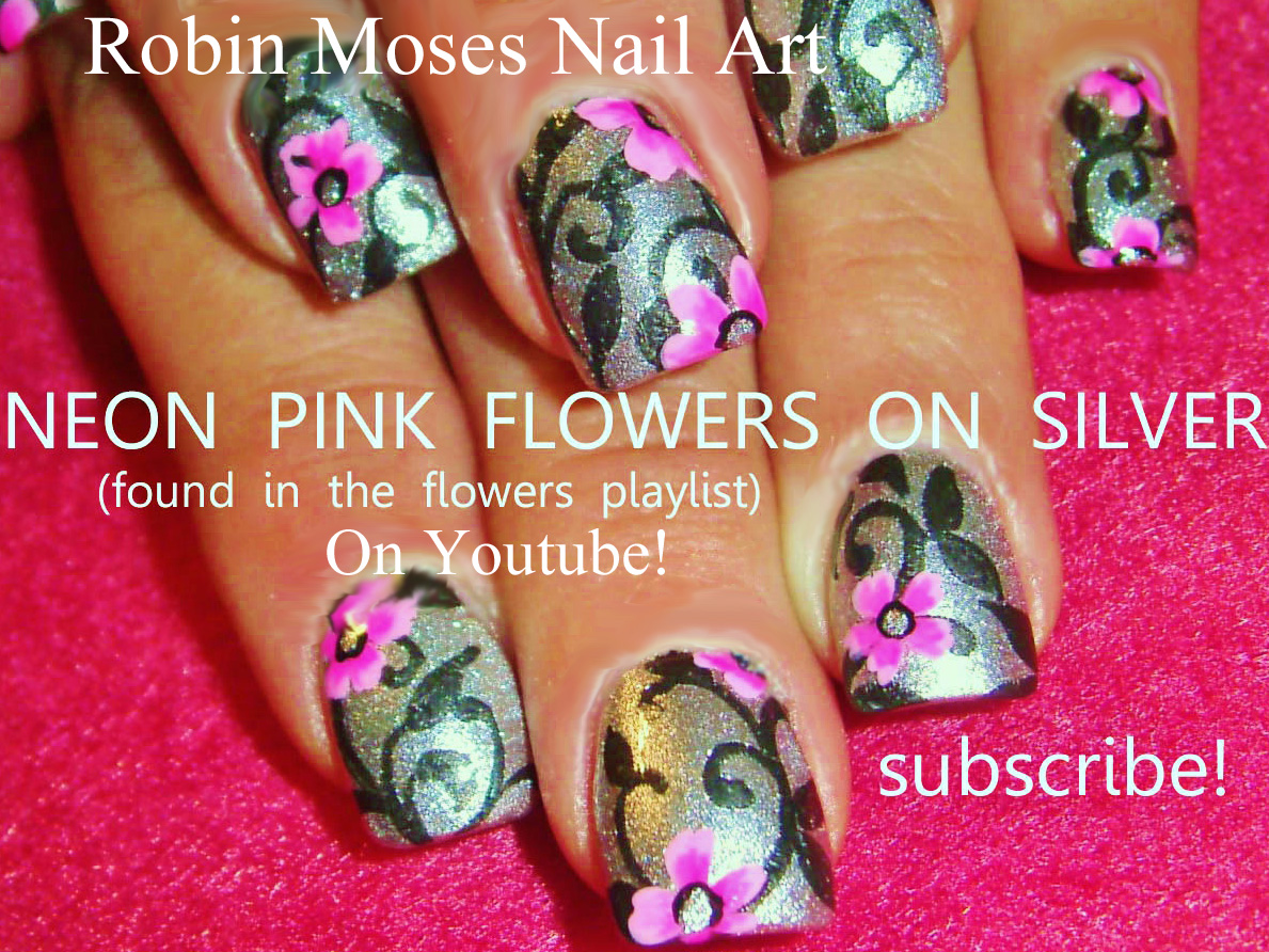Nail art by robin moses neon pink with white butterfly nail art pink nail art for miles see tons more pink nail designs at my youtube page robin moses nail art nail art tutorials nail designs easy diy nail art solutioingenieria Choice Image