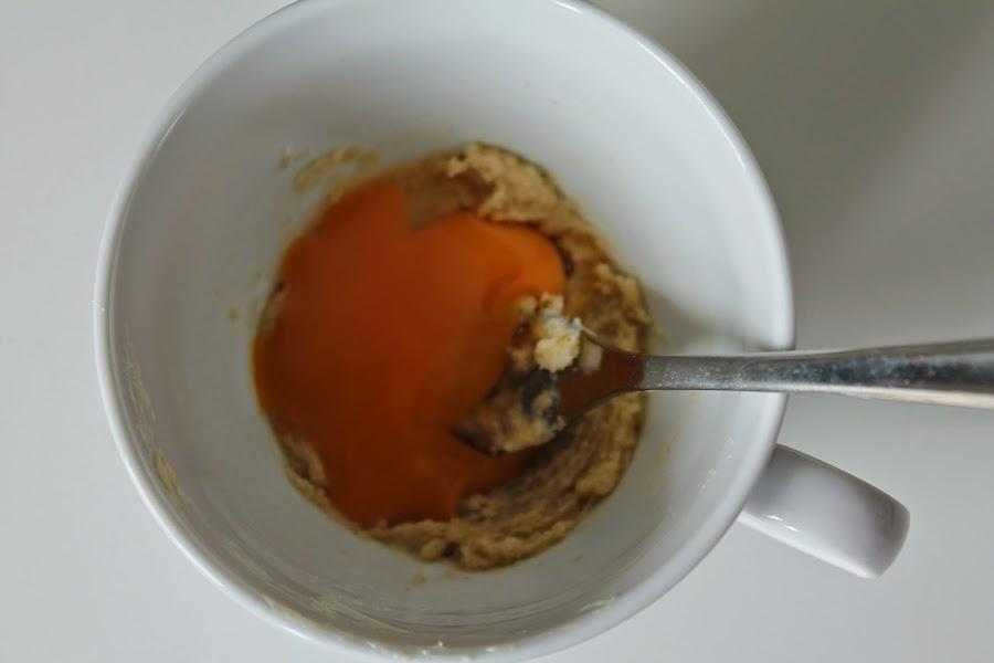 Receta y paso a paso Cookie in cup o Galleta hecha en taza