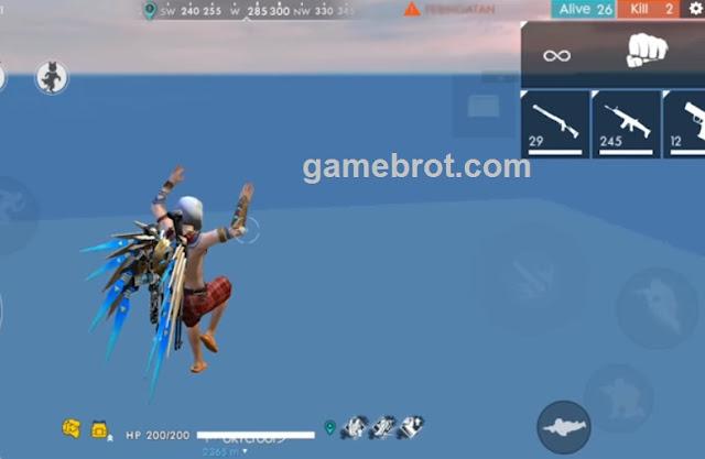 Cara Bug Free Fire - Bug Glider Terbang Diatas Awan Hingga Ketinggian 6000 Meter!