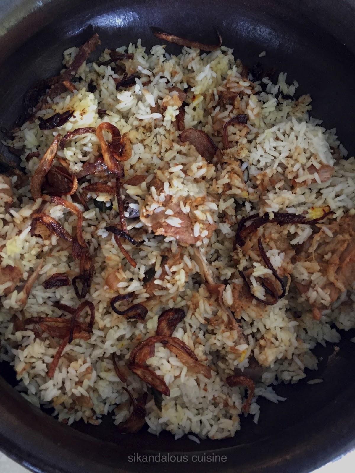 Sikandalous cuisine kerala mutton biryani sikandalouscuisine for Cuisine kerala
