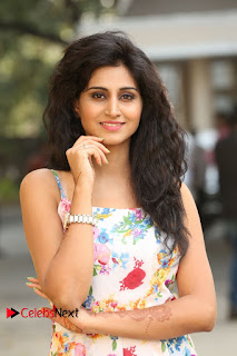 Actress Shamili Stills in Floral Short Dress at Sree Ramaraksha Song Launch 0008