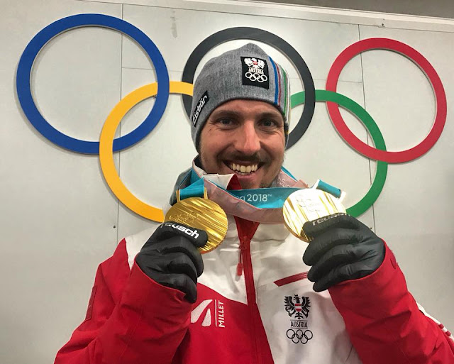 Marcel Hirscher Wins Giant Slalom and Grabs 2nd Gold Medal in Pyeongchang 2018