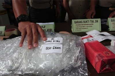 Drug agency arrests 2 dealers carrying 18 kg of meth