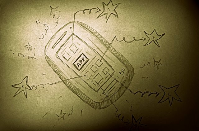 Future of travel in an app only world sketch
