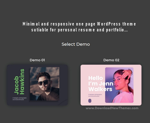 Resume Premium WordPress Theme