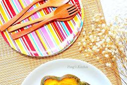 Baked Seafood Macaroni in Pumpkin