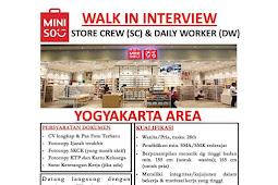 Walk-in Interview Miniso Yogyakarta