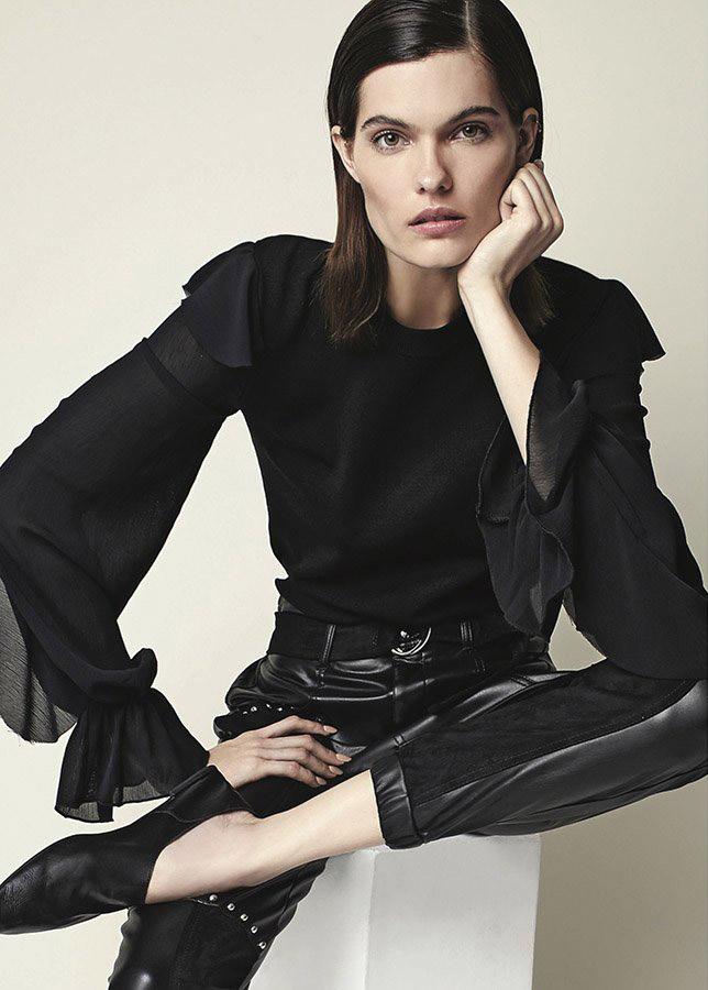 Blusas invierno 2020 ropa de moda 2020. Pantalones engomados invierno 2020. Moda invierno 2020 ropa de moda.