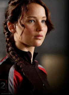 Film still of Katniss from The Hunger Games
