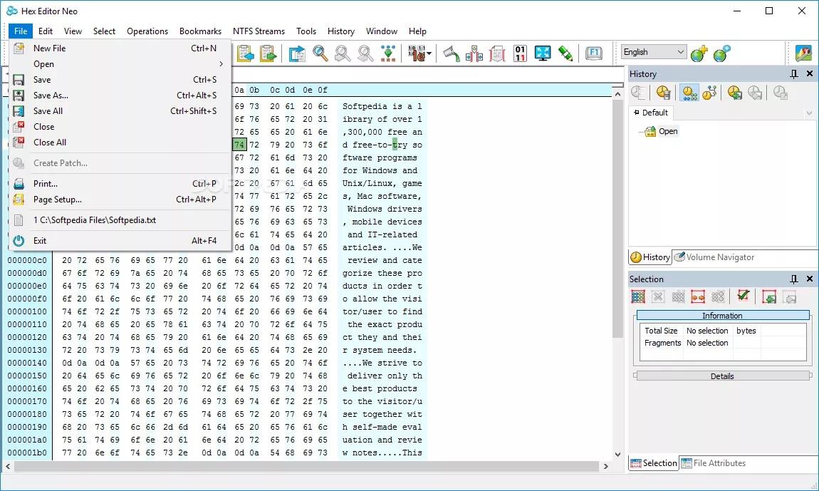 تحميل برنامج Hex Editor Neo 6.52 لتحريرالملفات الكبيرة وبسرعة عالية