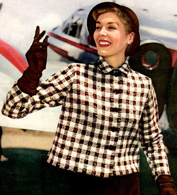 The Vintage Pattern Files : Free 1950's Knitting Pattern - Sport and Travel Jacket