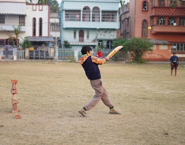 Nephew Rick Playing Cricket 18