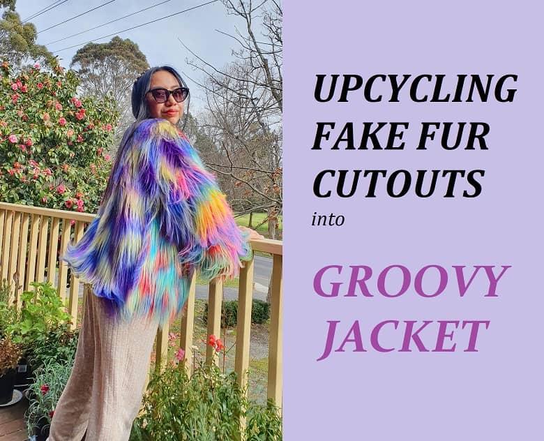 colorful fake fur jacket