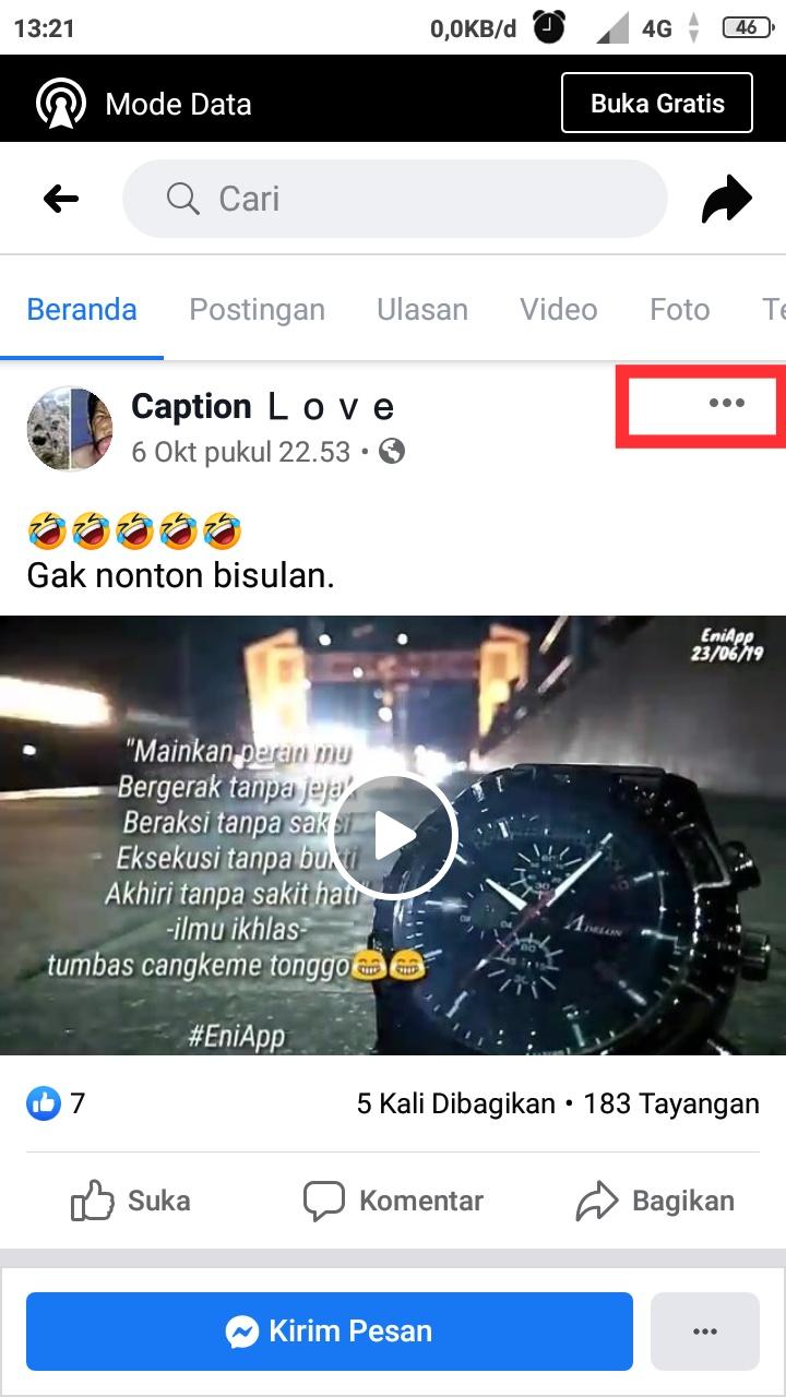 Cara Copy Link facebook