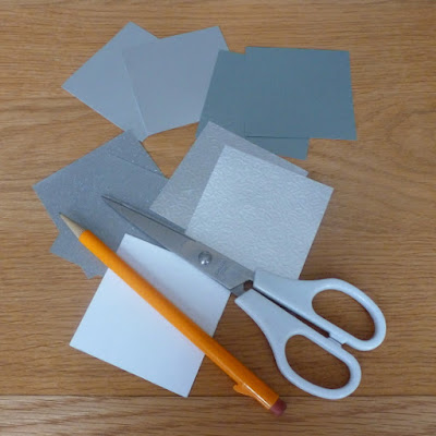silver paper squares