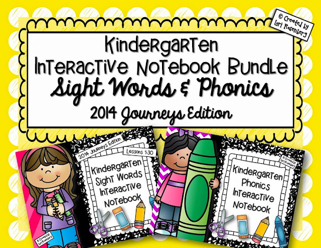 Kindergarten Sight Words and Phonics Interactive Notebook Bundle
